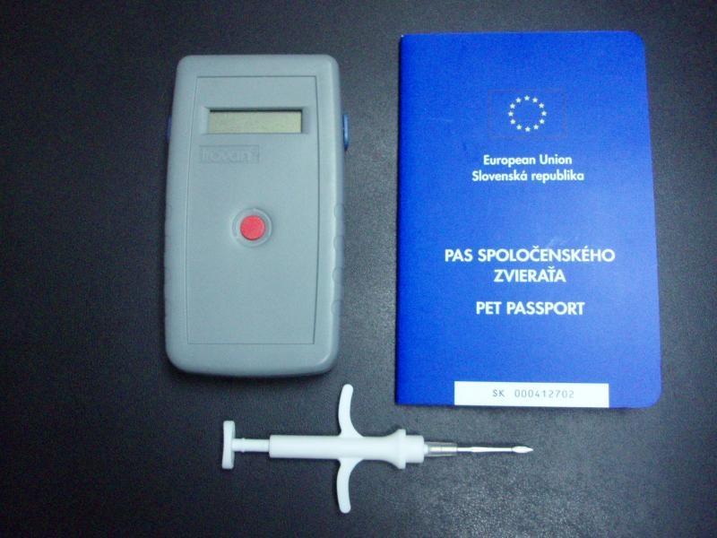 Čítacie zariadenie mikročipu, aplikátor mikročipu, Pet Passport