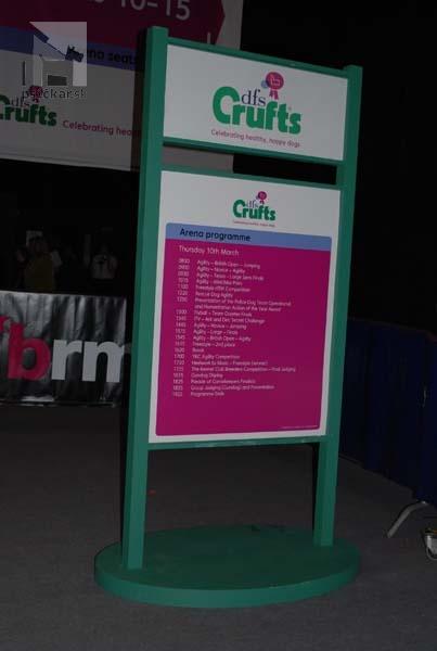 CRUFTS 2011 Informačná tabuľa